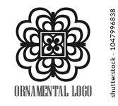vintage ornamental logo... | Shutterstock .eps vector #1047996838