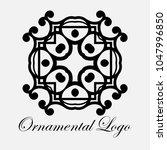 vintage ornamental logo... | Shutterstock .eps vector #1047996850