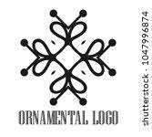 vintage ornamental logo... | Shutterstock .eps vector #1047996874
