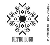 vintage ornamental logo... | Shutterstock .eps vector #1047996880