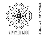 vintage ornamental logo... | Shutterstock .eps vector #1047996898
