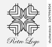 vintage ornamental logo... | Shutterstock .eps vector #1047996904