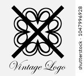vintage ornamental logo... | Shutterstock .eps vector #1047996928
