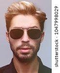 close up portrait of handsome... | Shutterstock . vector #1047998029