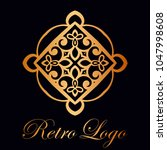 vintage ornamental logo... | Shutterstock .eps vector #1047998608