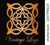 vintage ornamental logo... | Shutterstock .eps vector #1047998614