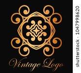 vintage ornamental logo... | Shutterstock .eps vector #1047998620