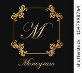 vintage ornamental logo... | Shutterstock .eps vector #1047998764