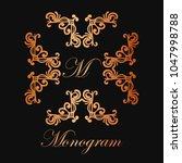 vintage ornamental logo... | Shutterstock .eps vector #1047998788