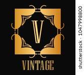 vintage ornamental logo... | Shutterstock .eps vector #1047998800