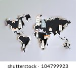 ripped paper map with city... | Shutterstock .eps vector #104799923