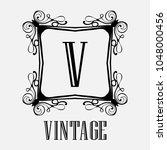 vintage ornamental logo... | Shutterstock .eps vector #1048000456