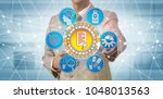 unrecognizable corporate...   Shutterstock . vector #1048013563