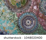 an awesome ornament on the wall ... | Shutterstock . vector #1048020400
