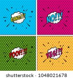comic bubbles set. expressions... | Shutterstock .eps vector #1048021678