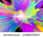 explosion of saturated virtual... | Shutterstock . vector #1048023964