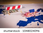 eu and usa trade war caused by... | Shutterstock . vector #1048024096