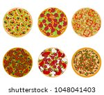 vector illustration of six... | Shutterstock .eps vector #1048041403