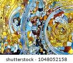leaded glass pattern series.... | Shutterstock . vector #1048052158