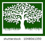 square frame with tree and... | Shutterstock .eps vector #1048061350