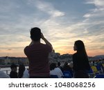 tourists photograph the danube  ... | Shutterstock . vector #1048068256