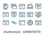 application related line icons. ...   Shutterstock .eps vector #1048070470