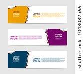 banner template. modern design...   Shutterstock .eps vector #1048082566