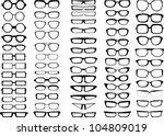 glasses and sunglasses...   Shutterstock .eps vector #104809019