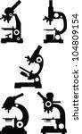 microscope vector collection | Shutterstock .eps vector #104809154