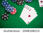 poker and casino games concept. | Shutterstock . vector #1048108213