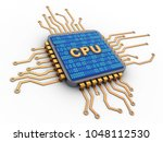 3d illustration of microchip... | Shutterstock . vector #1048112530