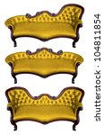 set of yellow leather armchair...   Shutterstock . vector #104811854