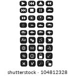 3d icon set | Shutterstock . vector #104812328