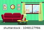 modern interior design of the... | Shutterstock .eps vector #1048127986