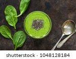 green avocado  spinach and... | Shutterstock . vector #1048128184