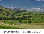 summer in alpe di siusi seiser... | Shutterstock . vector #1048133170
