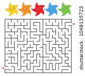 rectangular color labyrinth... | Shutterstock .eps vector #1048135723