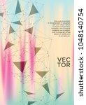 neat report template. global... | Shutterstock .eps vector #1048140754