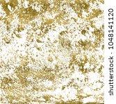 metallic gold paint brush...   Shutterstock . vector #1048141120