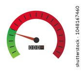 vector design of speedometer... | Shutterstock .eps vector #1048167460