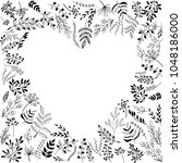 a hand drawn black and white... | Shutterstock .eps vector #1048186000