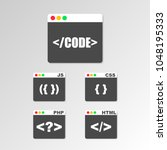 web design  coding and... | Shutterstock .eps vector #1048195333