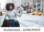 beautiful african american... | Shutterstock . vector #1048199059