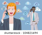 caucasian businesswoman and... | Shutterstock .eps vector #104821694