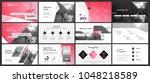pink presentation templates... | Shutterstock .eps vector #1048218589