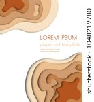 modern abstract design. paper... | Shutterstock .eps vector #1048219780