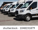 number of new white minibuses...   Shutterstock . vector #1048231879