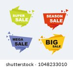 big sale and discounts set of... | Shutterstock .eps vector #1048233010