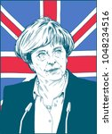 theresa mary may.  prime... | Shutterstock .eps vector #1048234516