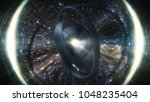 wormhole though time and space  ... | Shutterstock . vector #1048235404